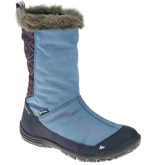 QUECHUA - Zapatillas de Senderismo de Caucho para niña, Color Azul, Talla 35 EU: Amazon.es: Zapatos y complementos