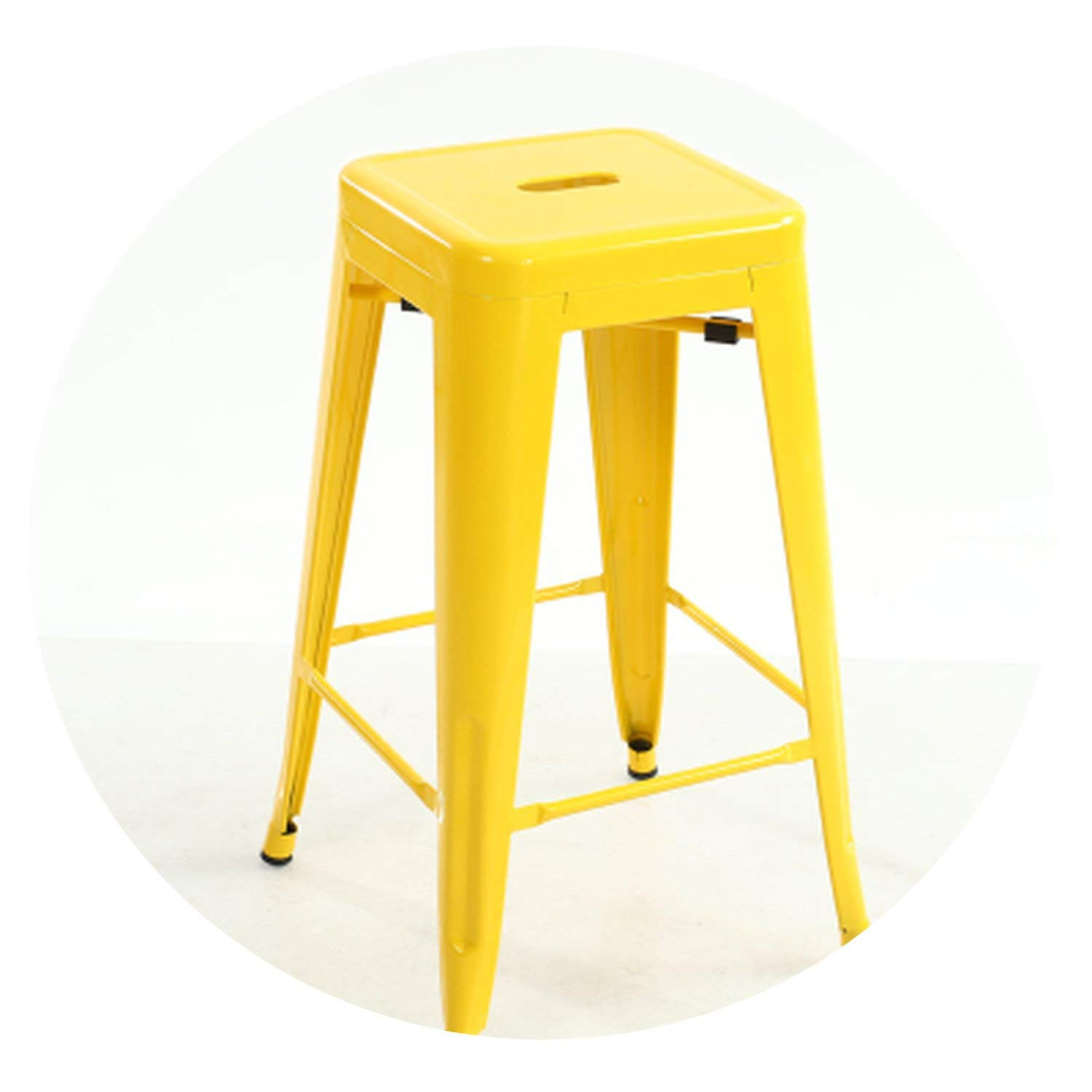 Yellow H45 cm Quality Metal bar Stool high Stool bar Chair Front Desk bar Chair,bluee H66 cm