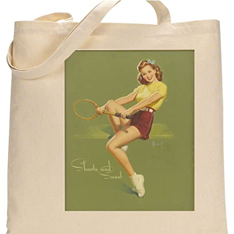 Amazon.com: Pixy Ink Vintage Pin-Up Poster Print Shorts and Sweet Tennis Girl - by Al Buell: Posters & Prints
