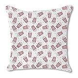 Popcorn Movie Night 20X20 Burlap Pillow 2-Sided Custom Printed