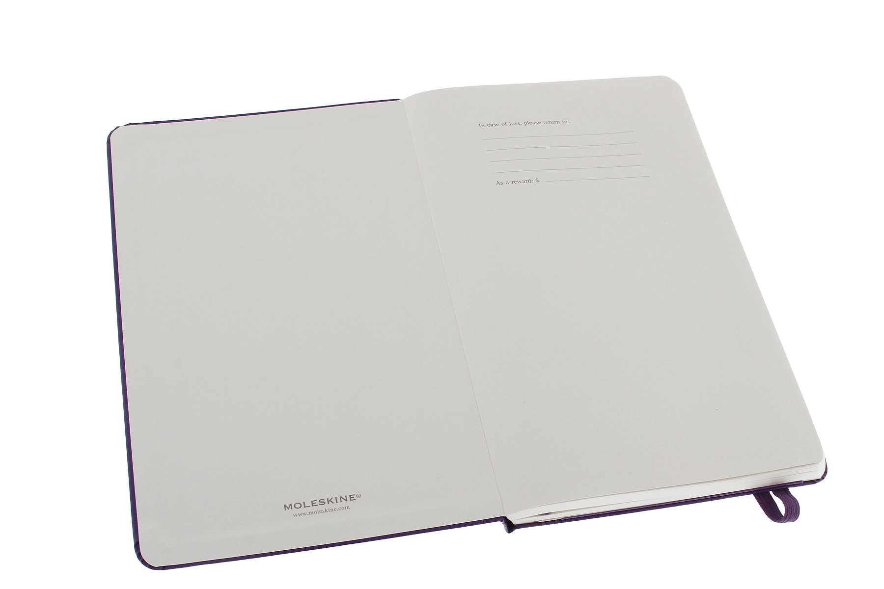 Moleskine Classic Notebook, Large, Ruled, Brilliant Violet, Hard Cover (5 x 8.25)