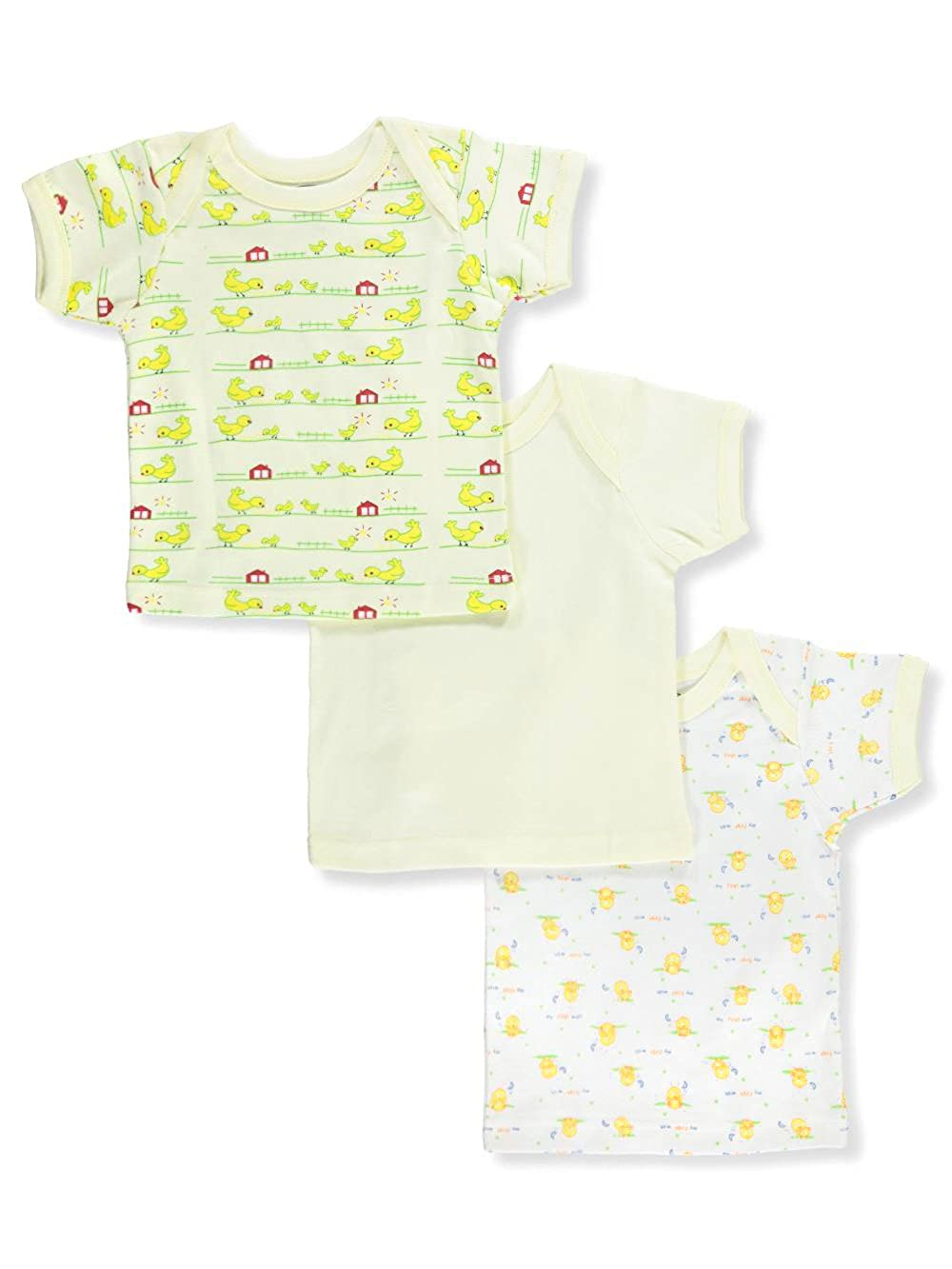 Big Oshi 100% Super soft cotton. 3-Pack Lap Shoulder T-Shirts 18-24 Months