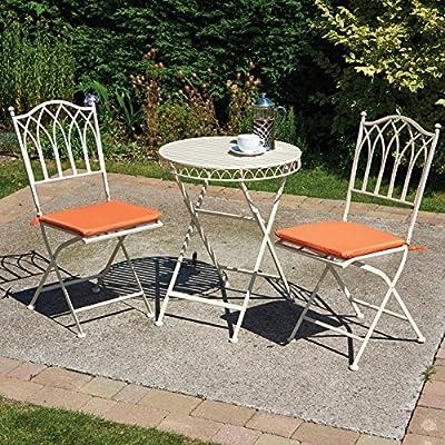 Mesa de jardín con cojines de asiento – silla de jardín plegable ...
