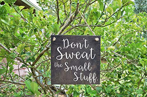 Burkewrusk Dont Sweat The Small Stuff Cute Quote Sign Wood Sign Art Solid Wood Hand Painted 1sided Sign Custom Made Choices Available ()