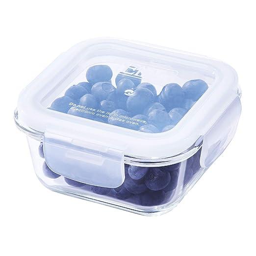 Recipiente cuadrado de cristal para almacenamiento de alimentos ...