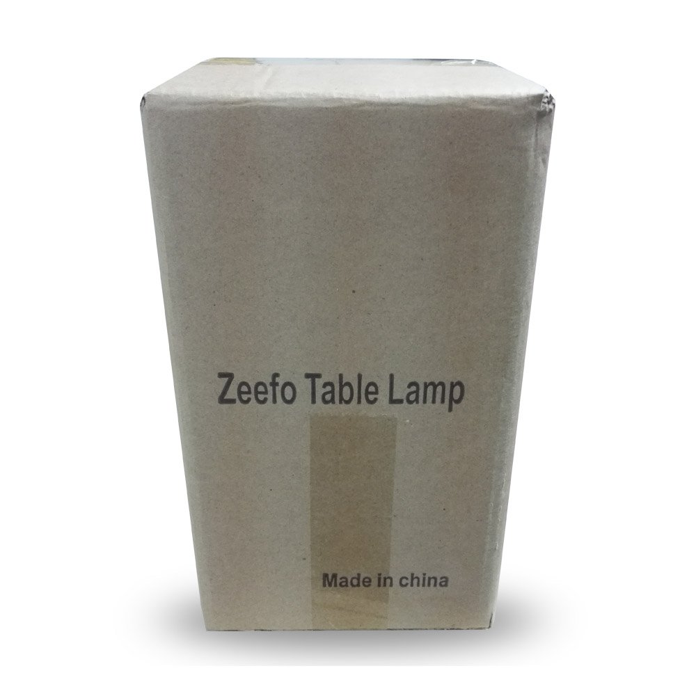 ZEEFO Simple Table Lamp Bedside Desk Lamp With Fabric Shade and Solid Wood for Bedroom, Dresser, Living Room, Baby Room, College Dorm, Coffee Table, Bookcase (square) by ZEEFO (Image #8)