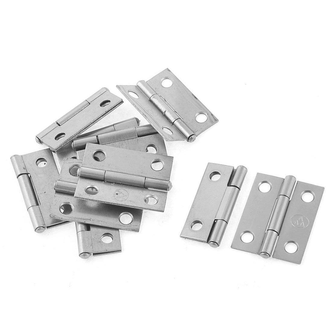 Bisagra de puerta de gabinete R SODIAL 10 piezas 1,5 hardware de bisagra de puerta de gabinete de armario rectangular y plegable