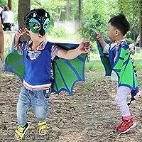 ParZ Kids Dinosaur Wings Disfraz y máscara de Fieltro para niños ...