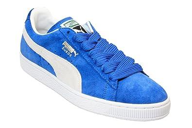 super populaire 551ac 4687a Puma Suede Classic Hommes Cobalt Blue blanc Or Lace-Up ...