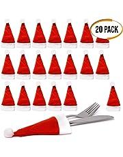The Twiddlers Confezione da 20 Porta Posate a Forma di minicappello di Babbo  Natale - Perfetti a1c06a765890