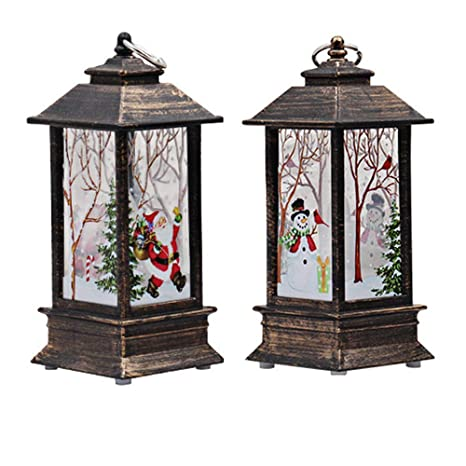 Christmas Lanterns.Amazon Com Inkach Christmas Hanging Lanterns Home Xmas