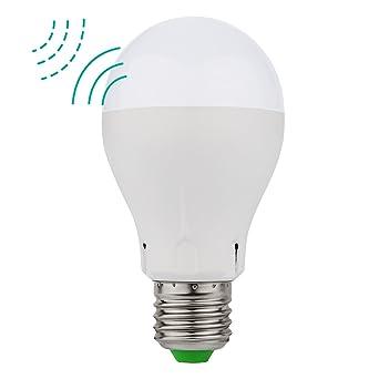 MINGER Radar Bombilla LED, 5W E27 Sensor de Movimiento luz LED Bombilla ,400lm,