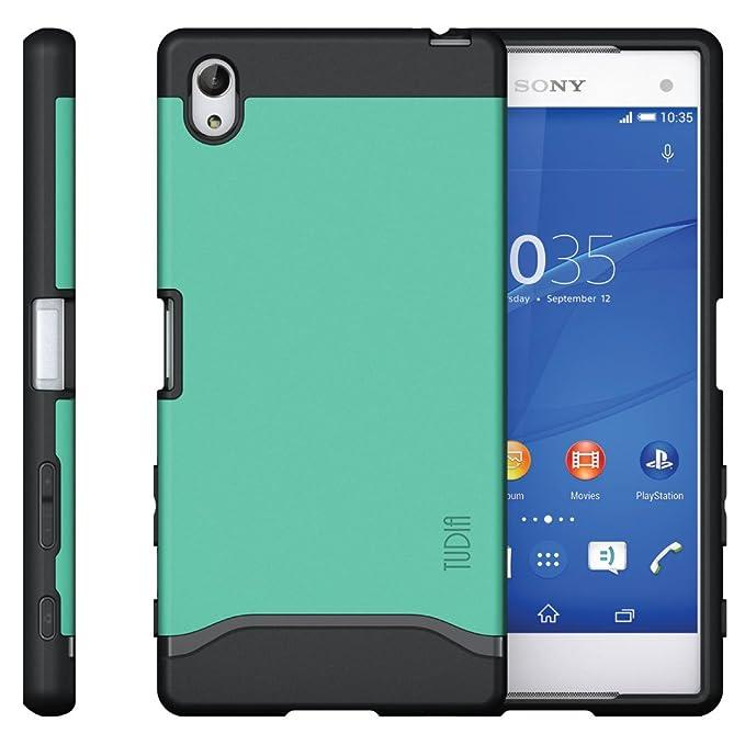 2 opinioni per Sony Xperia Z5Premium Cover, Tudia Slim-Fit Merge doppio strato protezione