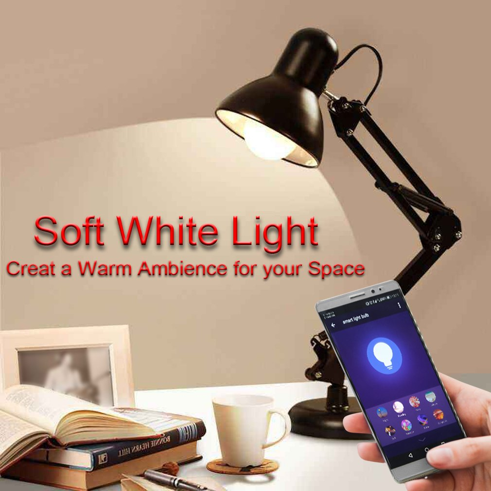 MARRYME Ampoules LED Connectées Wi-Fi E27,7W équivalent 65W Smartphone Télécommande Ampoules Intelligente Compatible avec Google Home/Amazon Echo Alexa Millions Couleurs