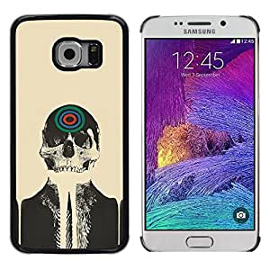 Impact Case Cover with Art Pattern Designs FOR Samsung Galaxy S6 EDGE Skull Skeleton Art Target Drawing Painting Head Betty shop