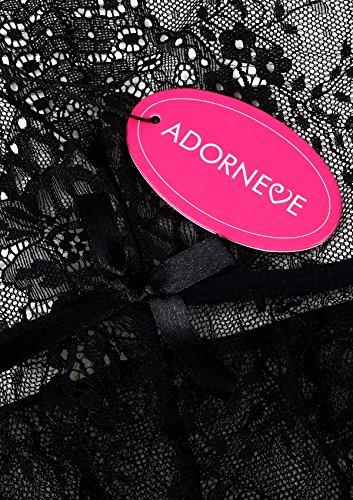 Chemise Negro Adorneve Xx Mujer large Babydolls 411WwdHTxq