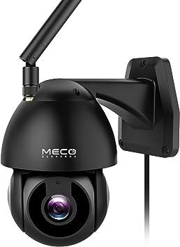 Opinión sobre MECO Cámara Vigilancia WiFi Exterior&Interior, 1080P HD Pan / Tilt Cámara de Seguridad Impermeable con Visión Noturna, Detección y Seguimiento Automático, Notificación de Alerta, Compatible con Alexa