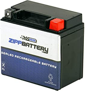Rechargeable YTZ7S Power Sports Battery - Replacement Motorcycle Battery, 180 CCA, High Performance, Zipp Battery