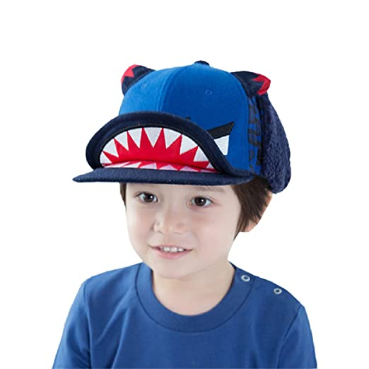 ec80c34e407ac Amazon.com   TRIWONDER Kids Boys Girls Winter Knit Beanie Hat Pom Pom  Bobble Hat Ski Cap Toddler Warm Knit Hat (Blue - Monster)   Baby