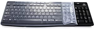 Ultra Thin Silicone Clear Keyboard Protective Skin Cover Compatible with Logitech K200 K260 K270 MK200 MK260 MK270 Keyboard (Transparent)