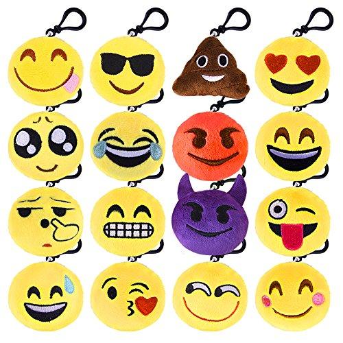 KUUQA Emoji Plush Pillows Keychain Emoji Decoration, Emoji