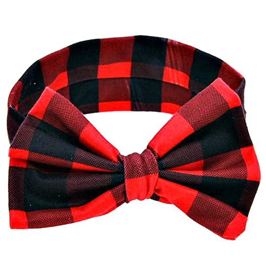 Amazon.com  Copper Robin Buffalo Plaid Headband Little Girl s Bow ... 23d1d15b0c0