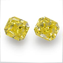 0.53Cts Fancy Intense Yellow Loose Diamond Natural Color Radiant Cut