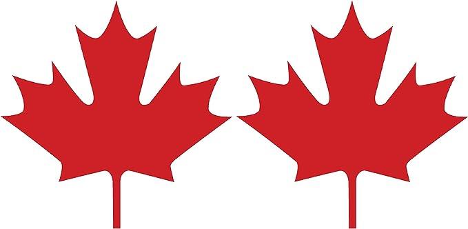 "Canadian Maple Leaf Red #1 Canada Vinyl Window Laptop Bumper Decal Sticker 4/"""