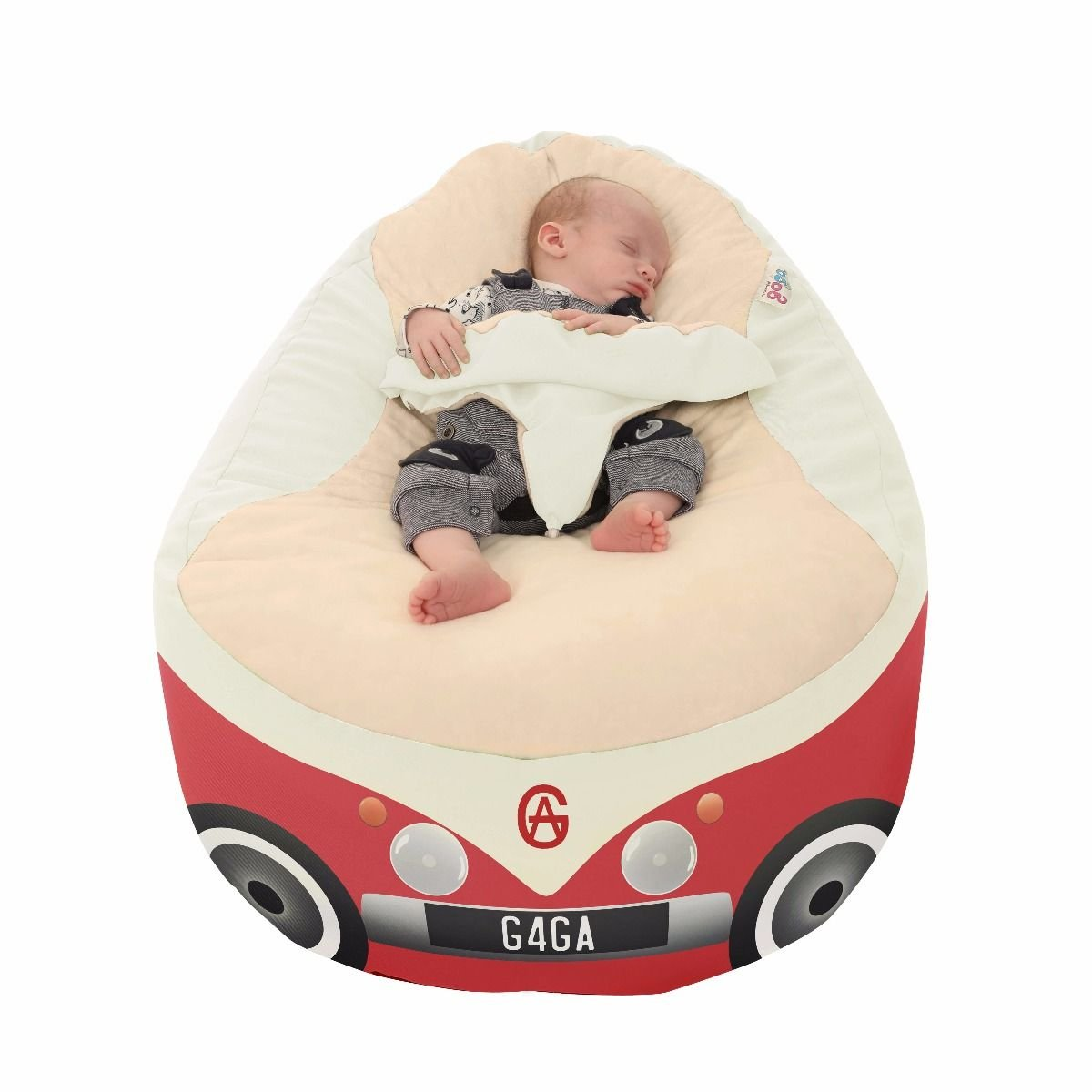 Iconic Campervan Gaga+ Baby to Junior Beanbag (Charcoal) rucomfy Bean bags