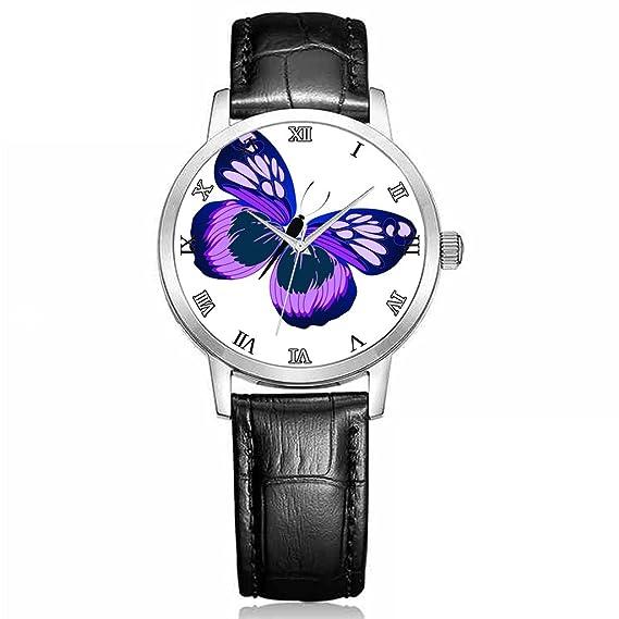 Armbanduhr Mujer, alta calidad relojes Chica Negro Piel Bügel volando Águila Animal Tema: Amazon.es: Relojes