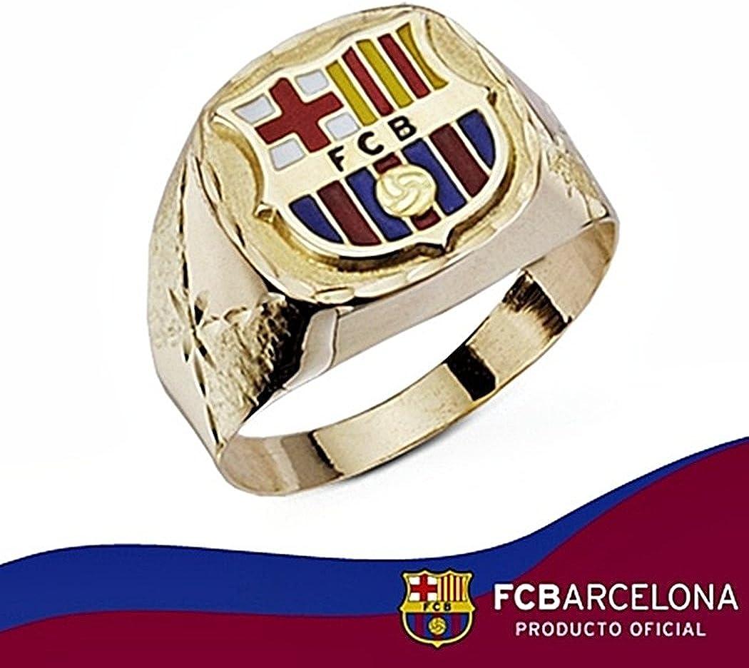 Sello escudo F.C. Barcelona oro de ley 9k hueco labrado [6565] - Modelo: 0510-155: Amazon.es: Joyería