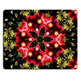 Natural Rubber Gaming Mousepad IMAGE ID: 8579023 Kaleidoscopic altered image of Hibiscus flower resembling a mandala