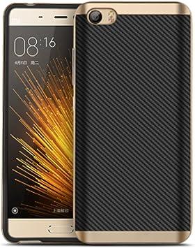 Cornmi - Funda de TPU con protección trasera para Xiaomi Mi5, plástico, dorado, Xiaomi M5 Mi 5: Amazon.es: Electrónica