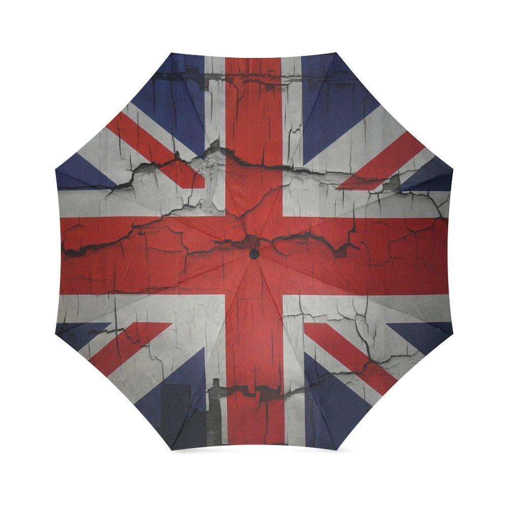 カスタムイギリス国旗コンパクト旅行防風防雨折りたたみ式傘 B075WDC8WZ