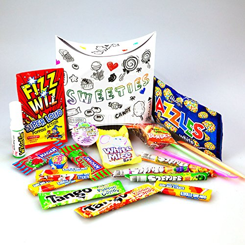 Moreton Gifts The Retro Sweeties Pouch - Packed Full Of Old School Retro Sweets - Great Birthday Gift, Get Well Soon, Congratulations Or Anniversary Present Ideas For Him And Her Boys & Girls, Mums & Dads, Men & Women Of All Ages.