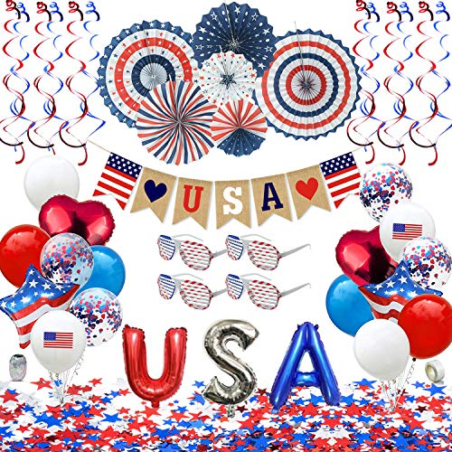 Patriotic Decorations - American Flag Party Supplies, 45