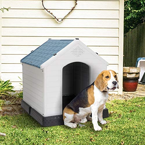 Nova Microdermabrasion Dog House Outdoor for Small Dogs Waterproof Pet House Plastic Puppy Shelter