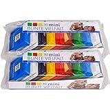 RitterSport 瑞特斯波德 德国运动 巧克力 德国进口 迷你mini七彩什锦巧克力150g*2份 7口味组合装共18块