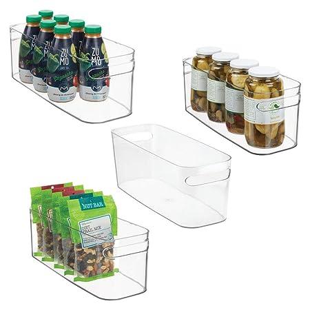 mDesign - Armario de plástico para Cocina, Nevera o congelador con ...
