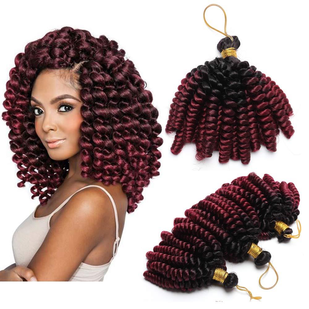 6 Short Marley Bob Crochet Braiding Hair Extensions Synthetic Twist