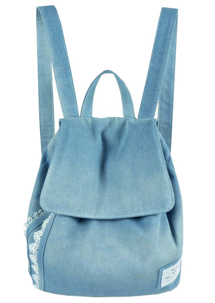 61d6da8842 SCOFEEL SPORT Girls Denim Canvas Lace Backpack Bookbag Dayback ...