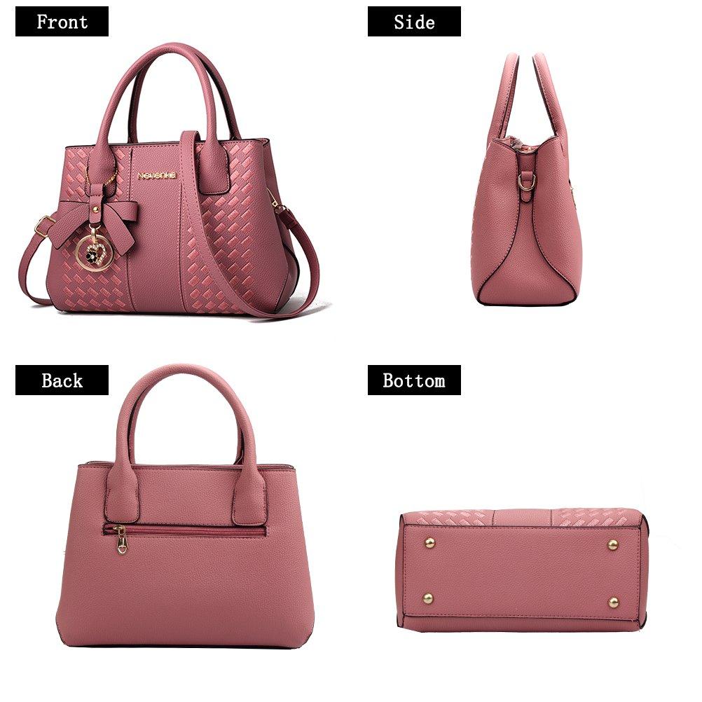 Handbags for Women Fashion Ladies Purses PU Leather Satchel Shoulder Tote Bags by Jeniulet (Image #4)