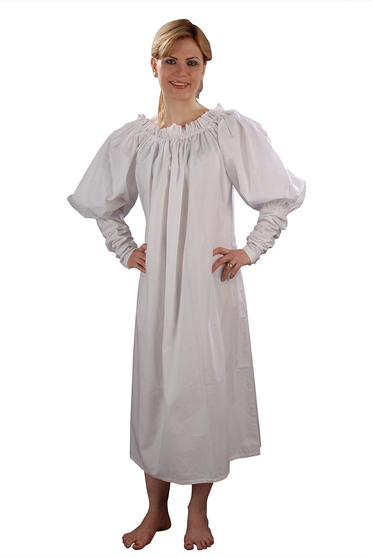 Women's Renaissance Long White Mutton Sleeve Chemise - DeluxeAdultCostumes.com