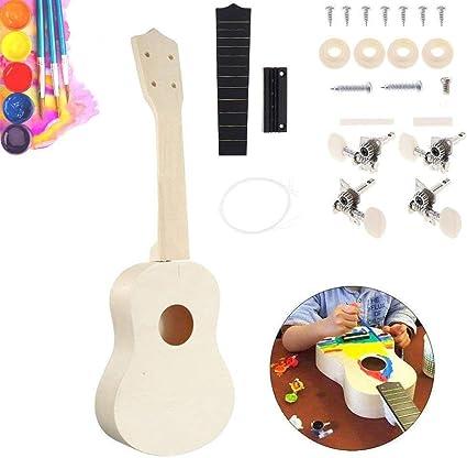 Kit de ukelele de concierto, divertido guitarra Hawaii de 53,3 cm ...