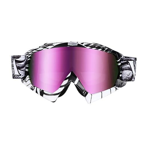 OUTAD Gafas de Esquí Snowboard Unisex Anti-vaho con Protección UV400 (blanco y negro