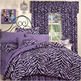 Bundle-21 Zebra Lavender Bed-in-a-Bag Set Size: Twin