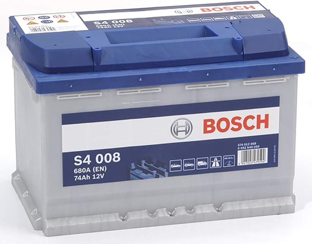 Bosch batteria per auto s4008 74a / h-680a polo positivo a destra