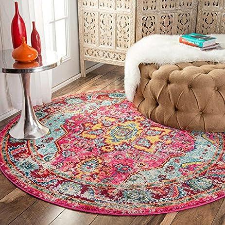 Amazon.com: nuLOOM Distressed Abstract Vintage Oriental Multi Round ...