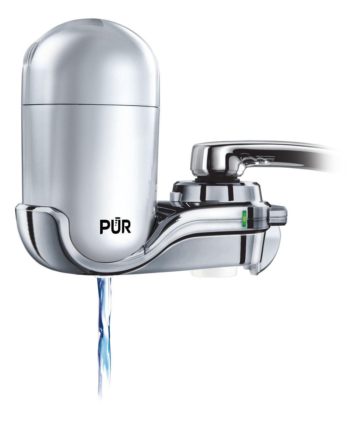 PUR FM-4100B 3-Stage Vertical Faucet Water Filter System, Gray  by PUR