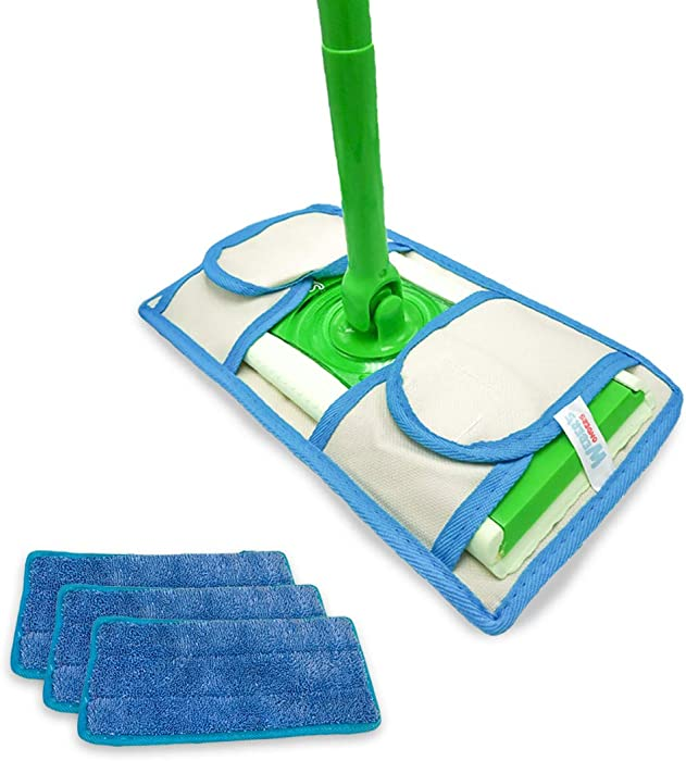 Set of 3 Microfiber Weber's Wonders Prime Mop Pads - Washable - Reusable - Durable - Works with Swiffer and ReadyMop Heads